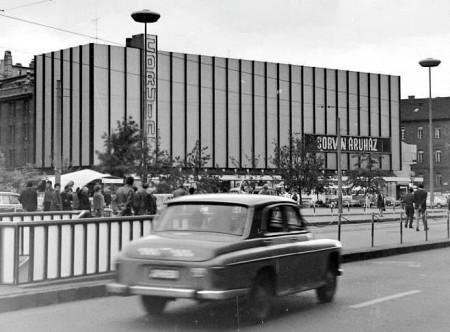 Facade of Corvin Shopping Centre